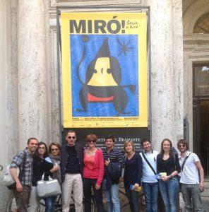 Rome Business School in visita alla mostra di Mirò