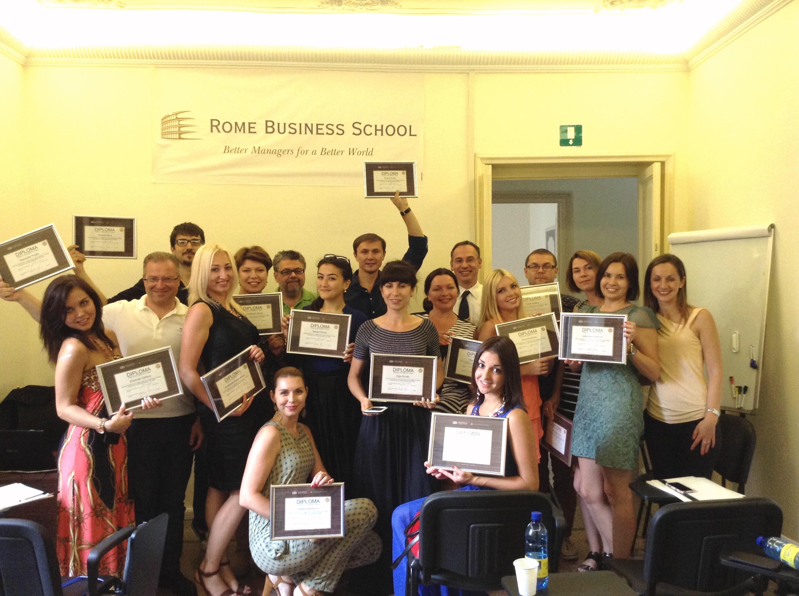 Kinder Garden: Russian Entrepreneurs Visit The Rome Business School